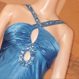 Party blue gown